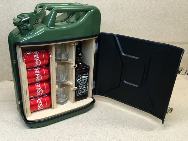 Perfect DIY Mini Bar From A Jerry Can