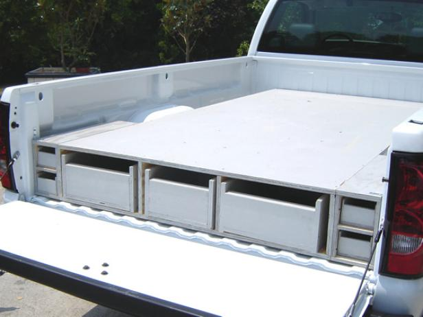 Installing a custom-made truck storage system