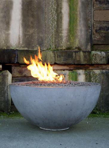 DIY Concrete Fire Pit Bowl - The Prepared Page