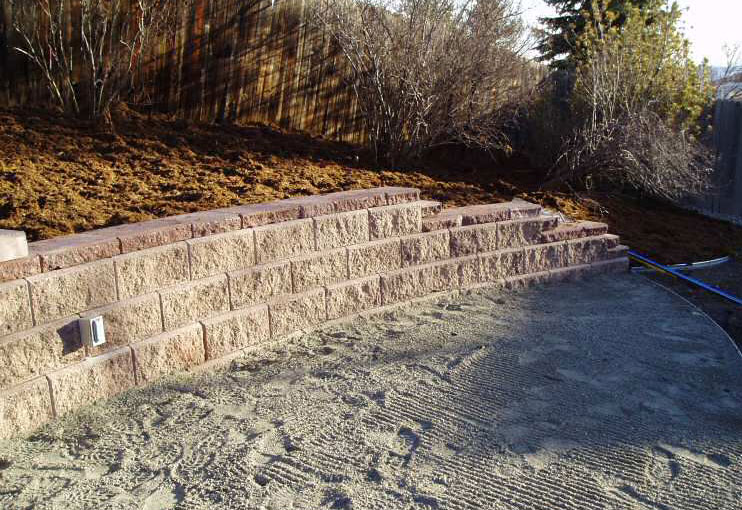 diy retaining wall drainage the prepared page. Black Bedroom Furniture Sets. Home Design Ideas
