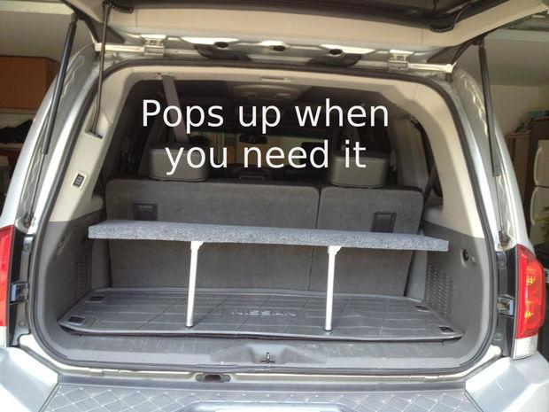 Diy Pop Up Trunk Shelf The Prepared Page