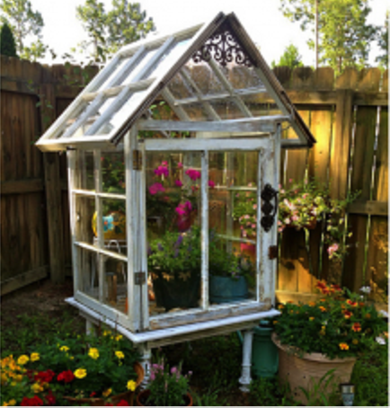 Diy Patio Greenhouse Reusing Old Windows The Prepared Page