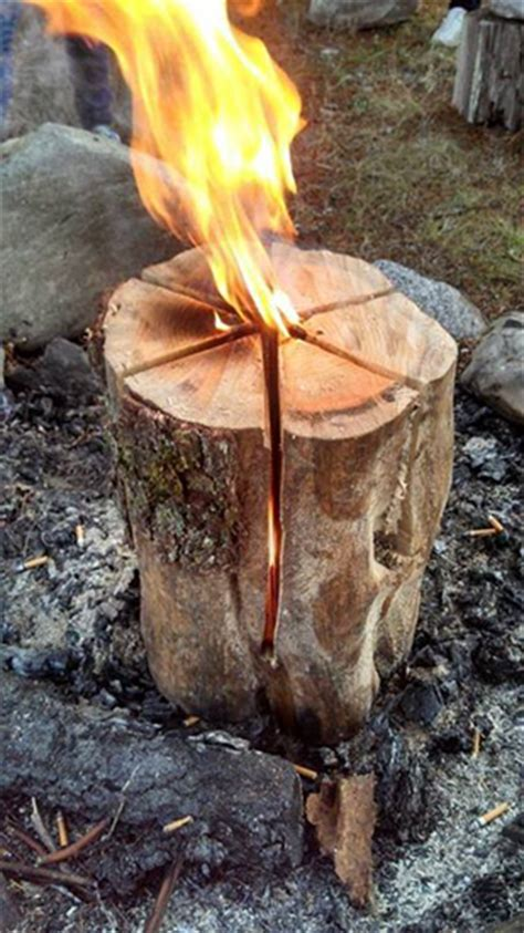 Swedish Fire - An All-Night Campfire with Only One Log ...
